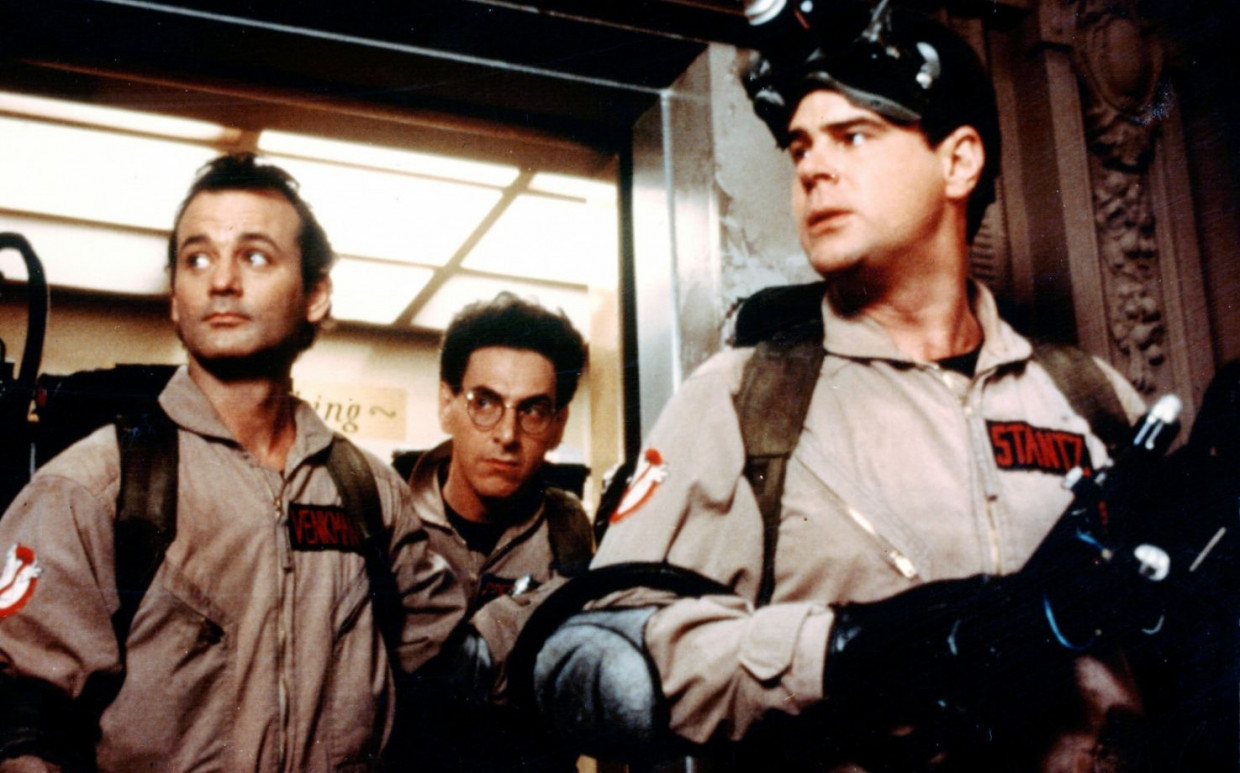 "Der ""Ghostbusters""-Original-Cast: Bill Murray Ernie Hudson und Dan Aykroyd"