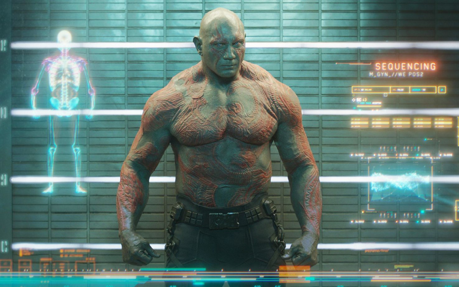 "Im Kino spielt Dave Bautista für Marvel den ""Guardian of the Galaxy"" Drax - bei Wrestlemania 35 kehrt er als ""The Animal"" Batista zur WWE zurück._Copyright Disney/Marvel"