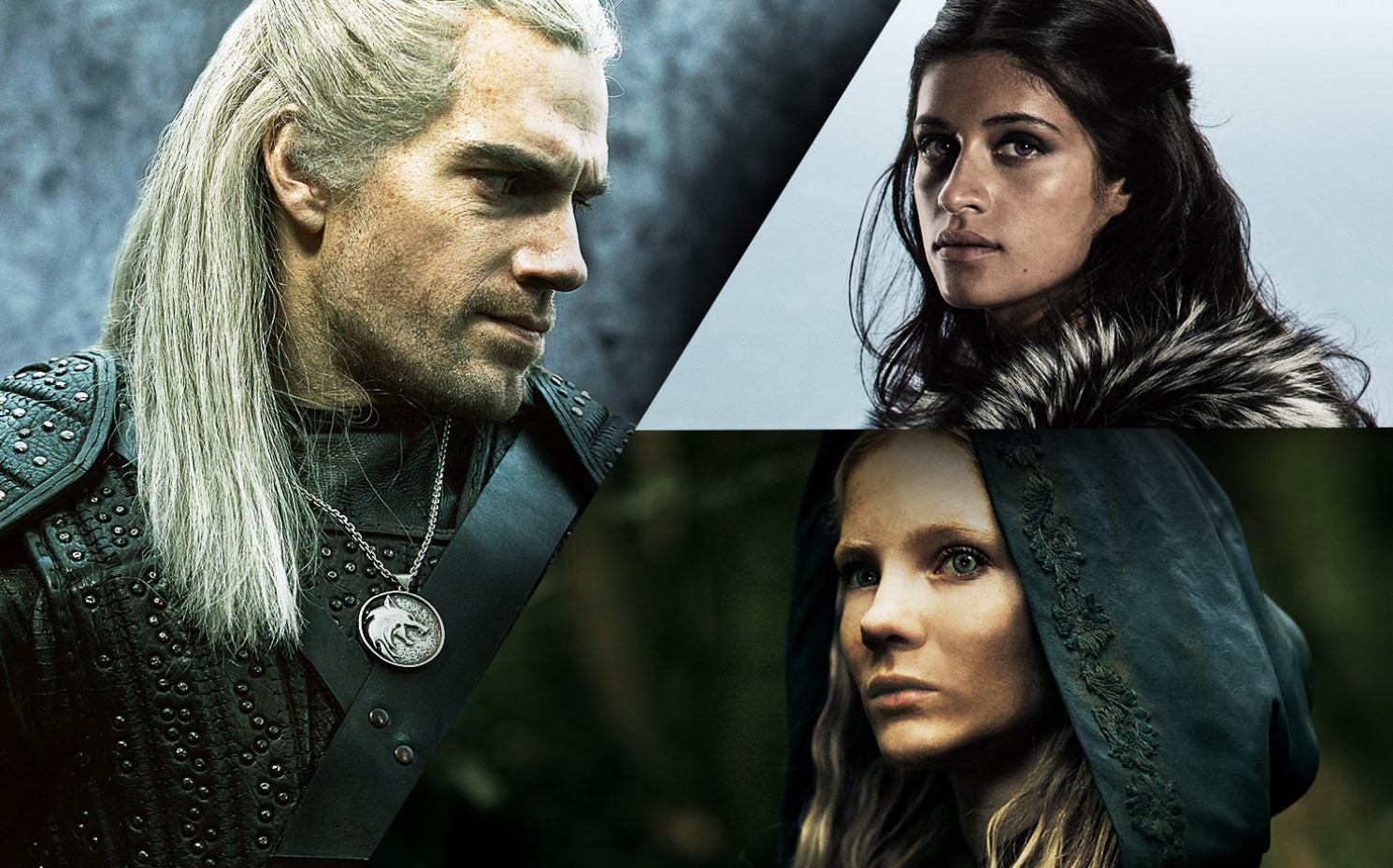 "So sehen Geralt, Ciri und Yennefer in der ""The Witcher""-Serie aus / Copyright Netflix"