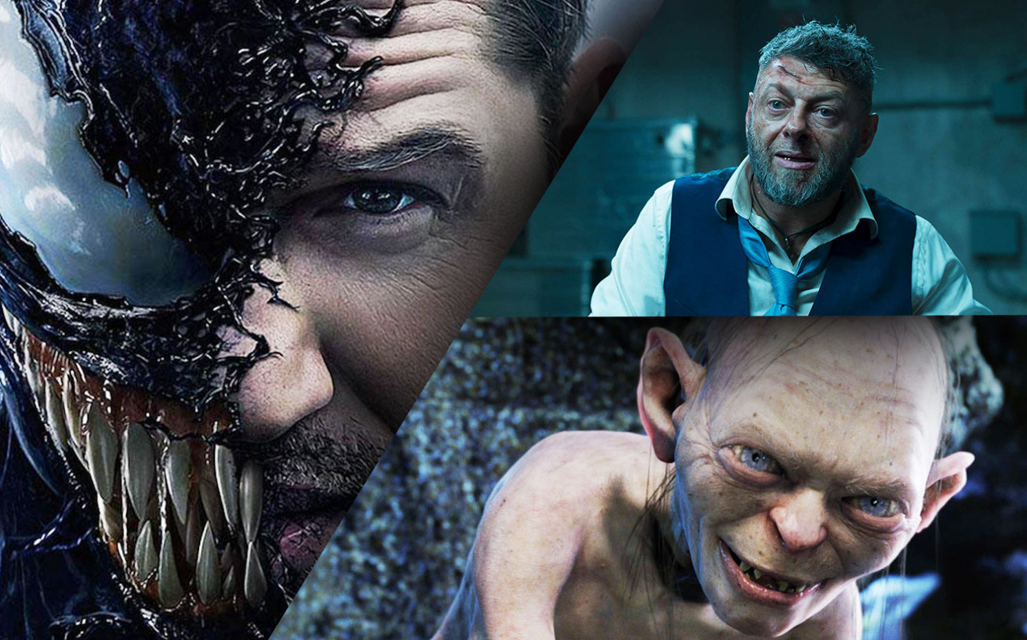 "Bei diesem Duo kann nur ein interessanter Blockbuster entstehen: ""Venom""-Star Tom Hardy und Gollum-Star Andy Serkis 