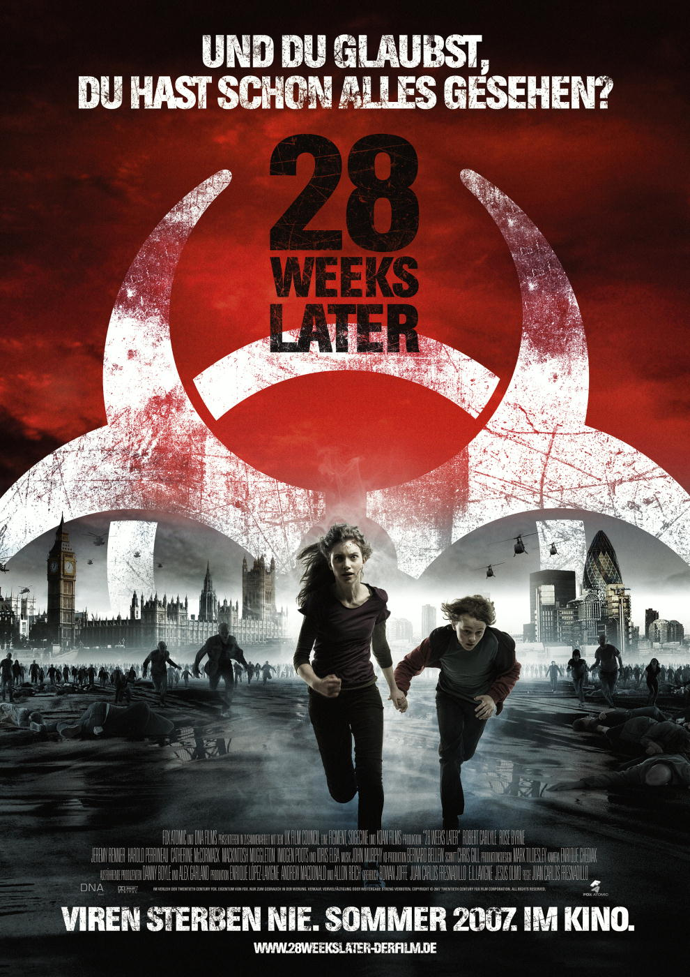 Plakat des Films: 28 Weeks Later