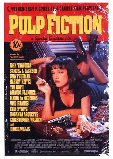 Plakat des Films: Pulp Fiction