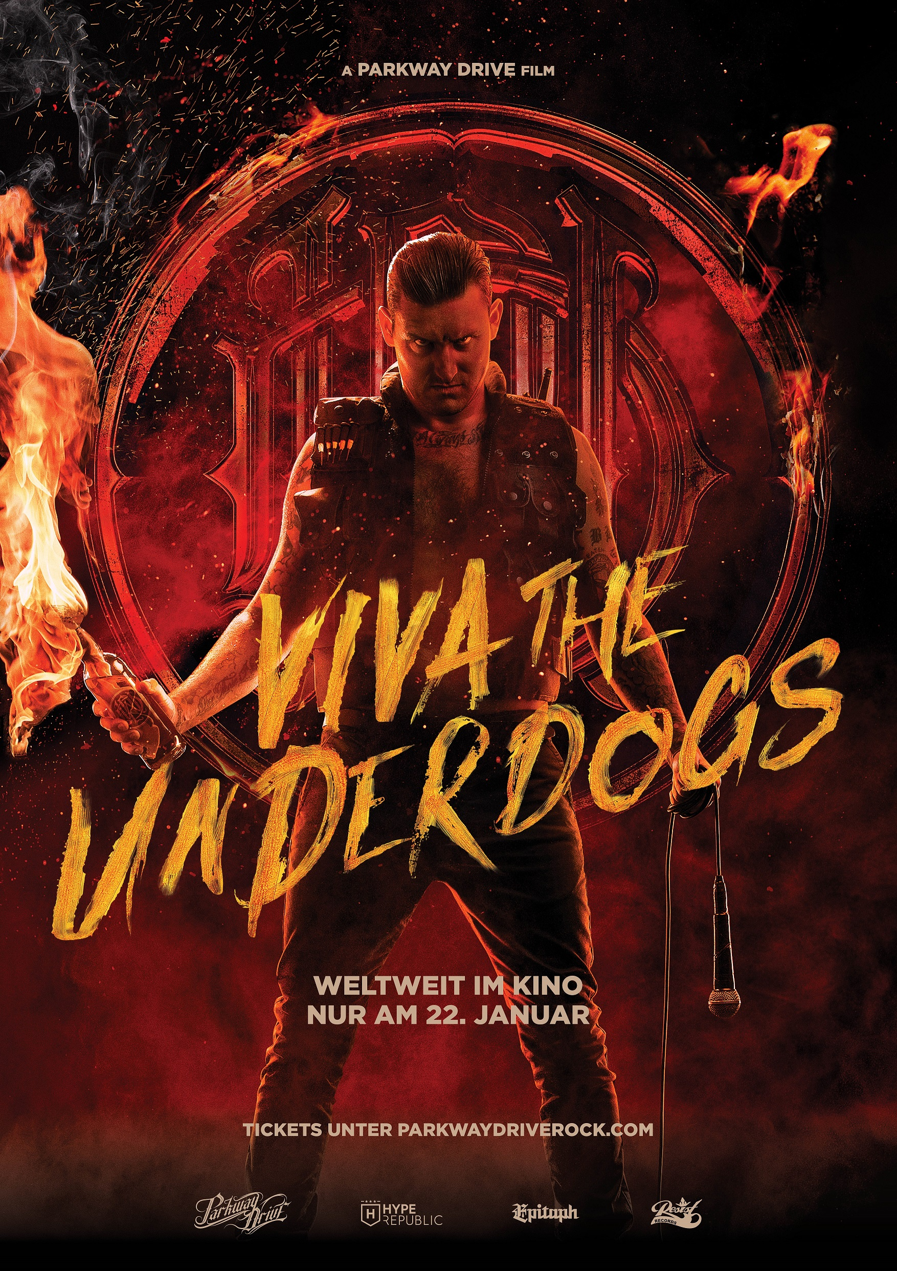 Plakat des Films: Viva The Underdogs - A Film by Parkway Drive