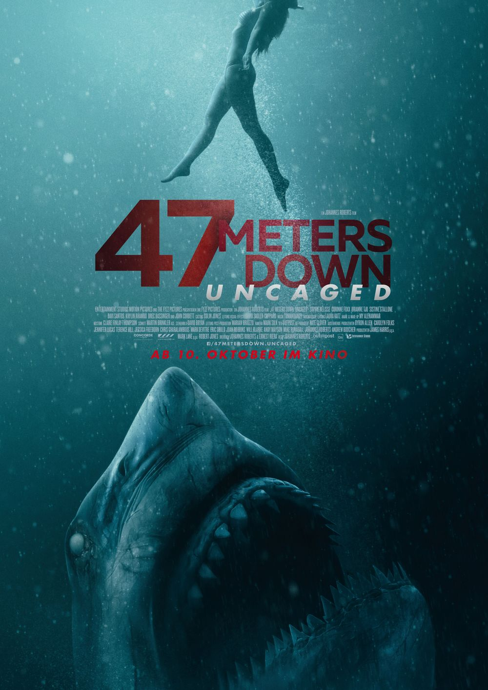 Plakat des Films: 47 Meters down: Uncaged