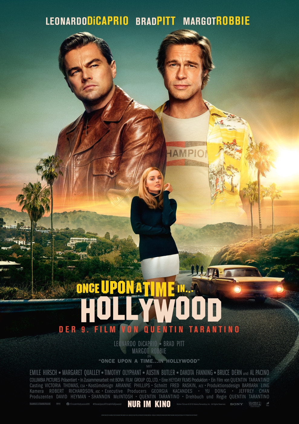 Plakat des Films: Once upon a time ... in Hollywood