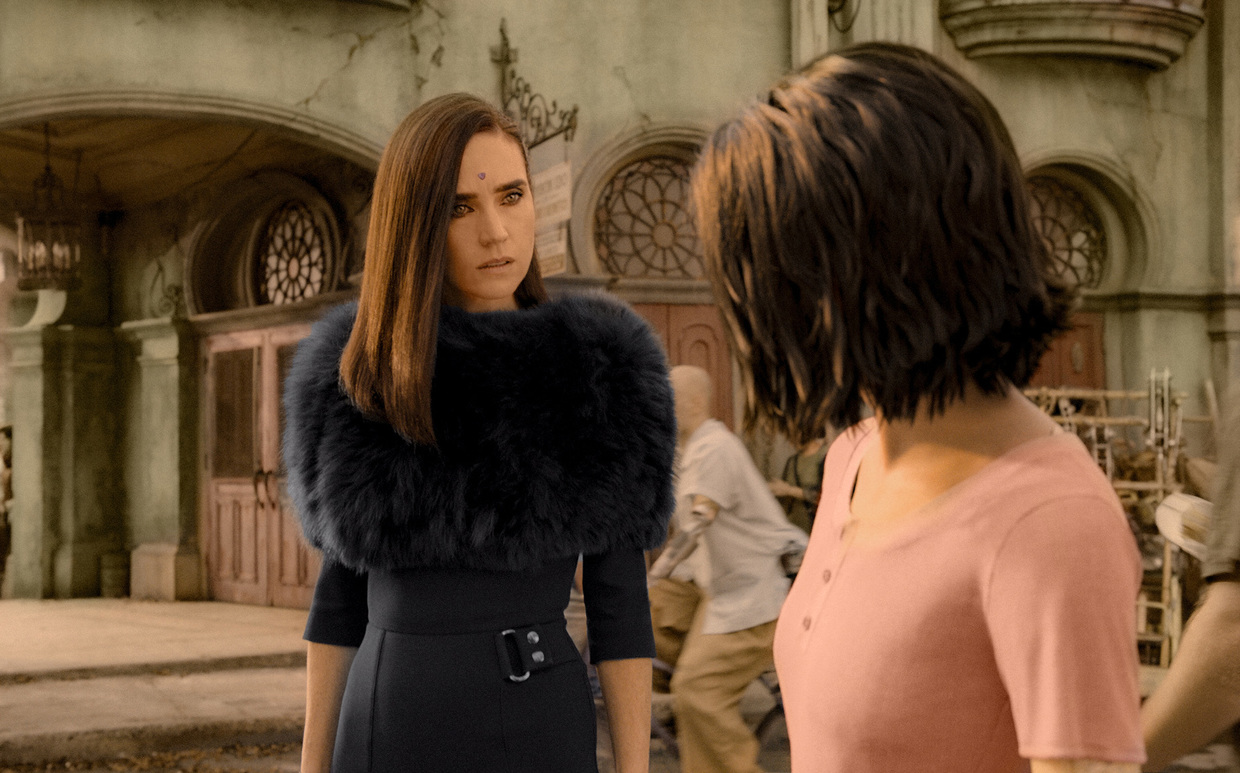"""Alita: Battle Angel"": Jennifer Connelly als Chiren, Rosa Salazar als Alita"